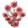 árvore da riqueza – rosa vermelha – 10 flores