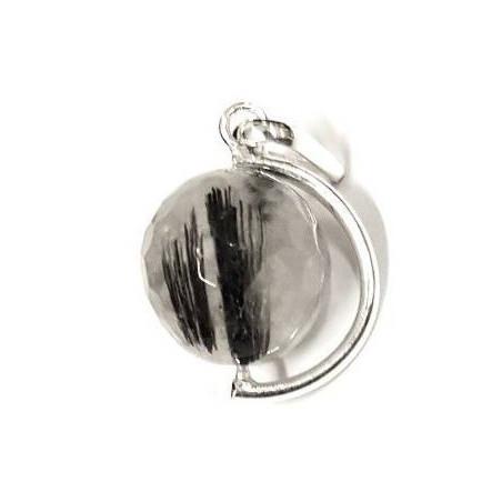 quartzo turmalinado pingente – bola