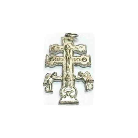 cruz de caravaca prateada – 4cm