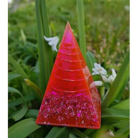 Pirâmide Orgonite - Nubia - Rosa