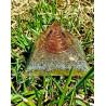 Pirâmide Orgonite Dourada - M