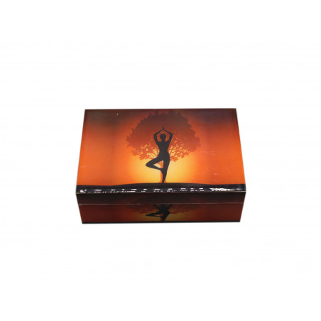 Caixa de madeira Yoga 15x10cm