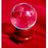 Bola de Cristal - Base de Madeira 6cm
