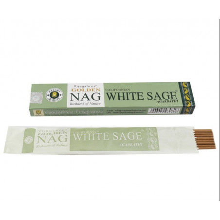 Incenso Golden White Sage 15 Gr - Salvia Branca