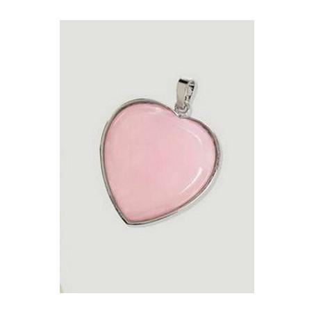 Pingente - Quartzo Rosa Coração